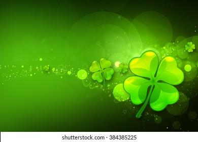 St. Patrick's day background. Clover background.