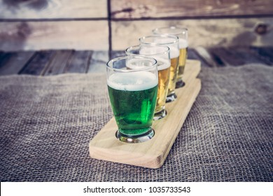 St. Patrick's day Beer Flight