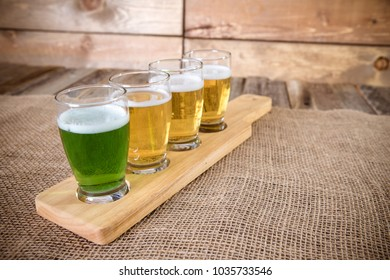 St. Patrick's day Beer Flight