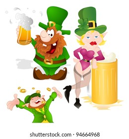 St. Patrick's Day characters set
