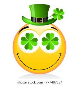 St. Patrick's Day - emoji with hat