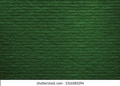 St Patricks Day green brick wall background.
