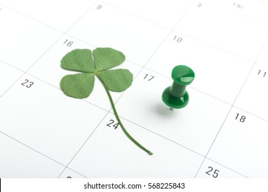 st patricks day on march calendar pin