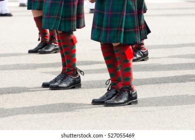 St. Patricks Day Parade men in kilts