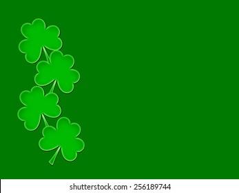 St. Patrick's Day Shamrocks - Text Space