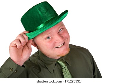 St. Patrick's Day: Tipping a Green Velvet Hat