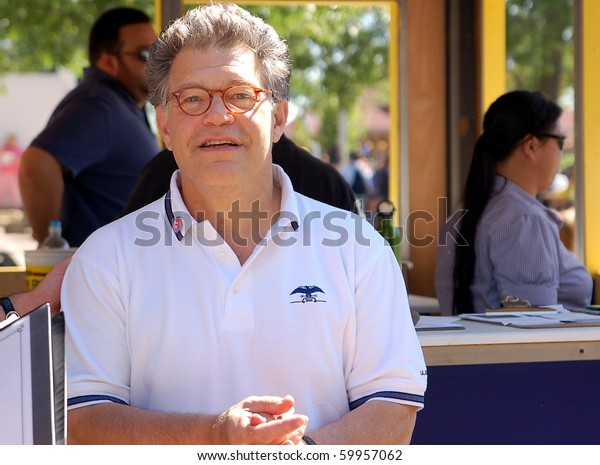 ST. PAUL - AUGUST 28:  U.S. Senator Al Franken greeting constituents at the Minnesota State Fair on August 28, 2010 in St. Paul.