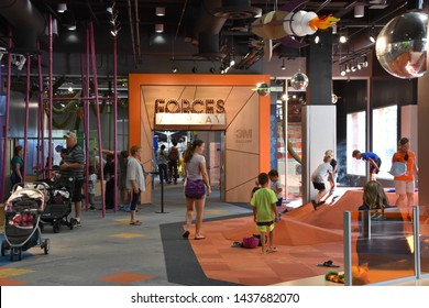 ST PAUL, MINNESOTA - JUL 29: Minnesota Childrens Museum in St Paul, Minnesota, as seen on July 29, 2017. It  is a non-profit community organization.