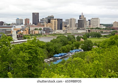 ST PAUL, MINNESOTA - May 2017: The skyline of St Paul, one of the Twin Cities
