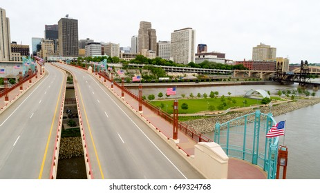 St Paul Minnesota over the Wabasha Street Bridge