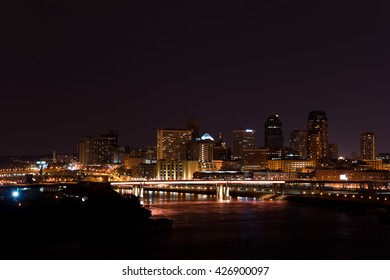 St Paul Minnesota Skyline at Night
