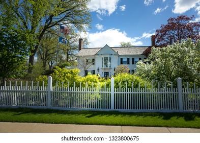 ST PAUL, MINNESOTA / USA - MAY 04, 2016: University of Minnesota President's Eastcliff residence on the National Register of Historic Places.
