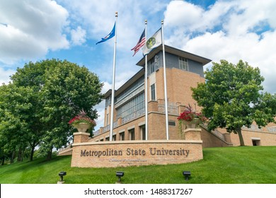 ST PAUL, MN/USA - AUGUST 25, 2019: New Main Hall on the campus of Metropolitan State University.