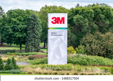 ST PAUL, MN/USA - AUGUST 25, 2019: 3M Minnesota world corporate headquarters building.