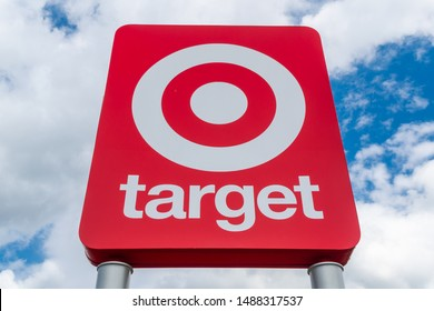 ST PAUL, MN/USA - AUGUST 25, 2019: Target retail store and trademark logo.