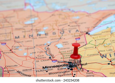 Minnesota Map Pin Images, Stock Photos & Vectors | Shutterstock