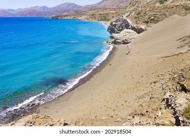 St. Paul Sandhills secluded beach near Agios Pavlos in Crete island, Greece