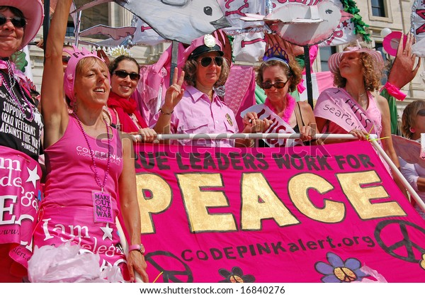 St. Paul - September 1: Code Pink Protesters at the March on the National Republican Convention in St. Paul on September 1, 2008.