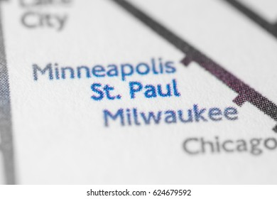 St. Paul, USA on a geographical map.