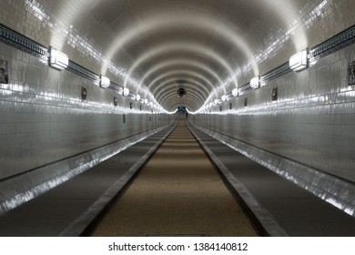 St. Pauli Old Elbe Tunnel after refurbishment in Hamburg, Germany