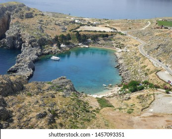 St. Paul's Bay, Lindos, Rhodes, Greece
