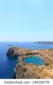 St Pauls Bay in Lindos in Rhodes, Greece