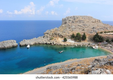 St Pauls Bay. Lindos, Rhodes, Greece.