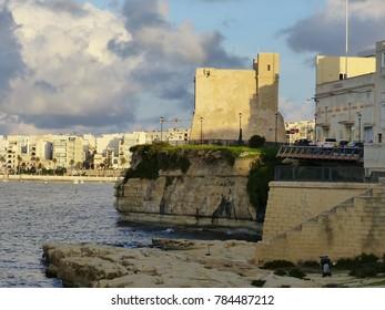 St. Paul's Bay, Malta / Malta - November 2017: Wignacourt Tower