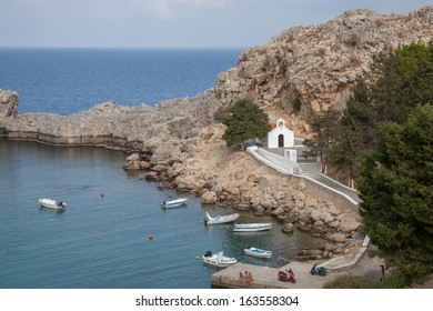 St. Pauls Bay near Lindos on the island of Rhodes, Greece