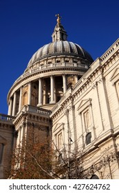 St Pauls Cathedral in London, England, UK built after The Great Fire Of London of 1666
