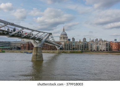 St. Paul's Cathedral and Millennium Bridge, London, United Kingdom
