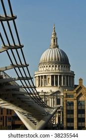 St Pauls Cathedral viewed from under the Millennium Footbridge