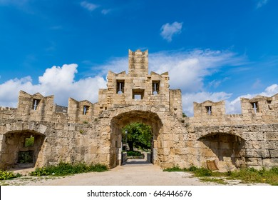 St Paul's Gate at Rhodes old town, inner view, Rhodes island, Greece
