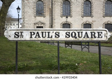 St Paul's Square Street Sign, Birmingham; England