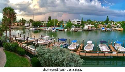 St Pete Beach, Florida, USA - July 26, 2016: Marina in St Pete Beach in Florida
