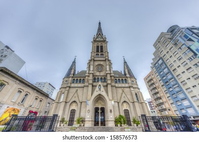 St. Peter and St. Cecilia (San Pedro y Santa Cecilia) Cathedral in the coastal city of Mar del Plata in Buenos Aires province, Argentina