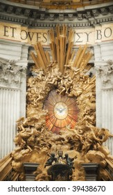 St Peter in Glory in St Peter's Basilica, Vatican City, Rome, Italy with a glow treatment
