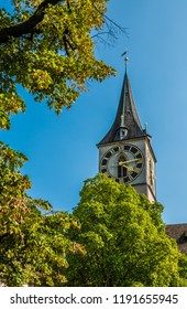 St. Peter is one of the four main churches of the old town of Zürich, Switzerland