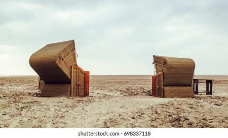 St. Peter Ording - North Sea coast - Beach chairs