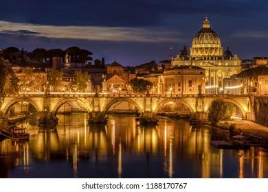St Peters Basilica and the Angels Bridge