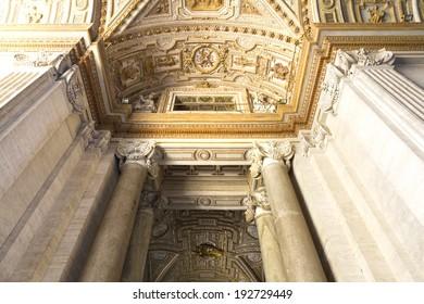 St. Peter's Basilica, St. Peter's Square, Vatican City. Indoor interior.