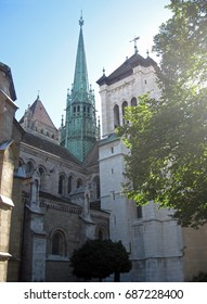 St. Peter's Cathedral in the morning, Geneva, Switzerland