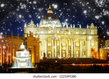 St. Peter's cathedral  in Rome, Italy