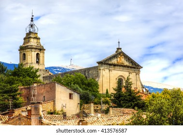 St Peter's Church, Bedoin, at the Foot of Mont Ventoux, Provence, France