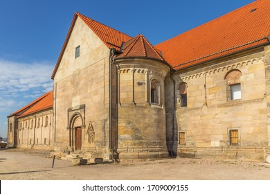 St Peter's Church was built between 1103 and 1147 in Erfurt, Germany