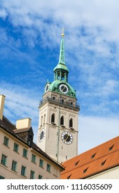 St Peter's Church gothic cathedral, symbol of city, Munich, Bavaria