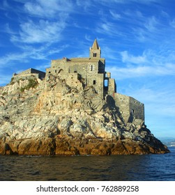 St. Peter's Church on top of the rocky coast of Portovenere