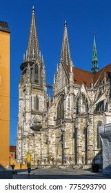 St. Peter's Regensburg Cathedral is an example of pure German Gothic, Germany.