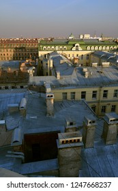St. Petersbourg, Russia - Mar 18 2015: St. Petersbourg city landscape over the roofs