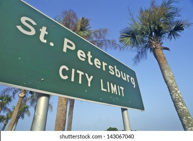 St. Petersburg City Limit sign in St. Petersburg, Florida